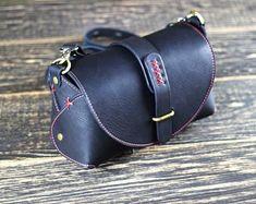 Leather crossbody bag Black handmade bag Gift for her Leather purse Shoulder bag women Leather Satchel Handbags, Black Leather Crossbody Bag, Leather Purses, Leather Wallet, Leather Totes, Leather Bags, Leather Makeup Bag, Thick Leather, Handmade Bags