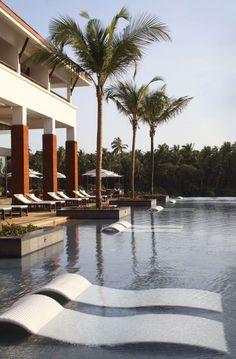 The Alila Diwa Goa | India (Love the lounger in the water)