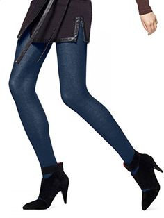 Hue Womens Flat Knit Sweater Tights Navy SM ** Click on the affiliate link Amazon.com on image for additional details.