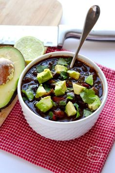 This Instant Pot black bean soup is a delicious plant-based meal that even the meat-eaters will love! (Made with dry, un-soaked beans)