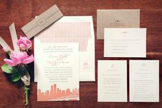 Portland Oregon wedding invitations From Tie That Binds