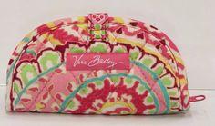 Vera Bradley Capri Melon Mini Jewelry Pouch Ring Roll Travel Case NWT SB0297 #VeraBradley