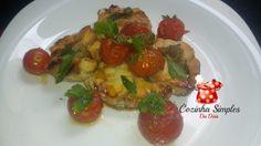 Cação Sayonara com tomates cereja e alcaparras - Cozinha Simples da Deia