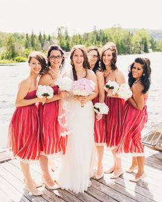Bridesmaids in bhldn.com  Read more - http://www.stylemepretty.com/canada-weddings/2013/08/23/quebec-wedding-from-micheal-b-photography-unity-weddings/