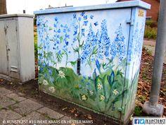 Kunstkast ineke kaars en hester mans Urban Street Art, Yarn Bombing, Western Australia, Box Art, Murals, Holland, Graffiti, Sculptures, Yard