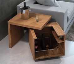 Hidden storage can be fun to use and make. Also, it plays an important part in protecting items in your home. Take a look at these clever hidden storage ideas. Hence, which include hidden stairway storage, hiding trash can in… Continue Reading → Smart Furniture, Space Saving Furniture, Unique Furniture, Furniture Making, Wood Furniture, Furniture Design, Furniture Ideas, Bar Cart Decor, Secret Storage
