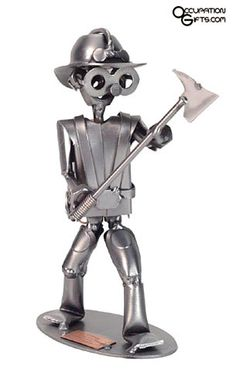 Fireman Metal Figurine - a quality gift idea for Firemen everywhere. Unique gifts and gift ideas for firemen at BuyGifts.com - #firefighter