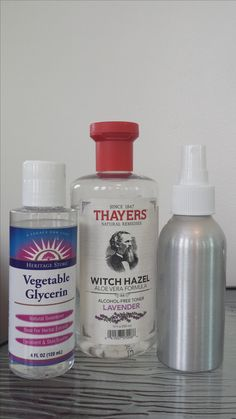 This makeup setting spray will give you a nice natural dewy glow. Needed is a 4oz. mist spray bottle-Filtered or Purified water-Glycerin (Vegetable, Flower, Rose Petal)-Witch Hazel (with or without alcohol) Directions: 1 Tblsp of Witch Hazel, 1/2 Tblsp Glycerin, fill the rest of the mist bottle with Purified\Filtered Water, shake well and your done. Note: You can also add essential oils but not to much. Glycerin will help control oil, Witch Hazel conditions skin. Keep in mind alcohol is…