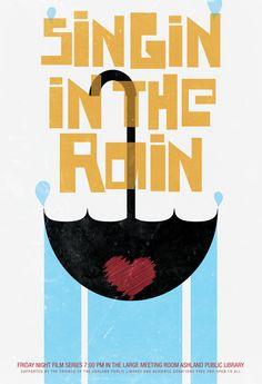 Cantando bajo la lluvia.