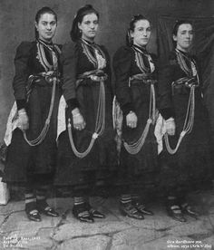 Traditional Albanian clothing - Page 19 Albanian People, In Ancient Times, Folk Costume, Traditional Outfits, The Past, Culture, Clothes For Women, Female Clothing, Greece