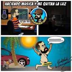 Via Instagram LAEMINENCIAreal La crisis que me da cada vez que me racionan la luz haciendo música. Ahhhhhh #LaEminenciaLOL que triste mi país #Venezuela  #ProblemasDeProductores  #producerproblems #corpoelec #producerlife #studio #makingbeats #Lol  #reggaeton #lmao #riete #risa #humor #carcajadas #mixing  #chistes #estudiodegrabacion #musica #productormusical #protools #flstudio #siguemeytesigo #producers #LaEminencia producer problems problemas de productores #producermemes #producermeme…