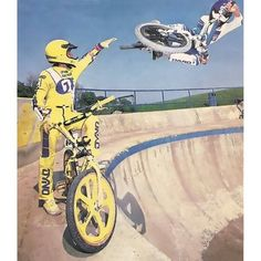 Eddie Fiola... Old school BMX.