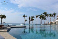 Our breathtaking pool area at Dreams Los Cabos Suites Golf Resort & Spa!