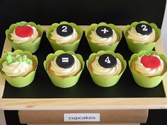 Cute cupcakes for a teachers lunch