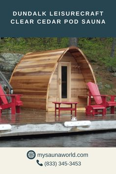 The unique, rain-drop design of the POD Sauna enhances the ambiance of your outdoors while giving your more headroom. The durability of the Clear Western Red Cedar ensures its classic beauty will last a lifetime. Outdoor Sauna, Outdoor Decor, Traditional Saunas, Western Red Cedar, Drops Design, Classic Beauty, Rain, Outdoors, Unique