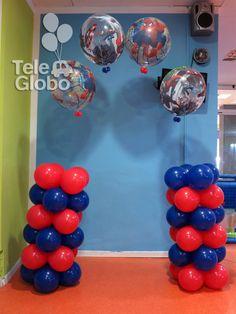 Decoraci n con globos para cumplea os con minions - Decoraciones para cumpleanos infantiles ...