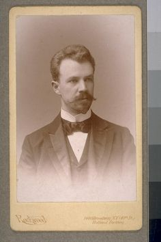 This is an image of Lincoln Steffens.  He was an American writer and he played a major role in muckraking journalism era.  Steffens most famous reports were printed in McClure's Magazine.  The report included The Shame of Minneapolis and Tweed Days in St. Louis.  These reports were series of reports that covered the corruption in politics.  Rockwood. Lincoln Steffens. 1894. Photograph. California Faces: Selections from The Bancroft Library Portrait Collection , Rockwood, New York, New York.
