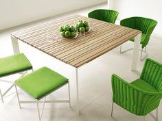 Garden table SUNSET by Paola Lenti   #Design Francesco Rota #green #colour @paola_lenti