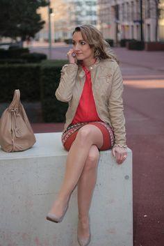 blouse - Mango / skirt - Forever21 / jacket - Forever21 / shoes - Mango / bag - Furla / rings - LookbookStore / bracelet - J.Crew