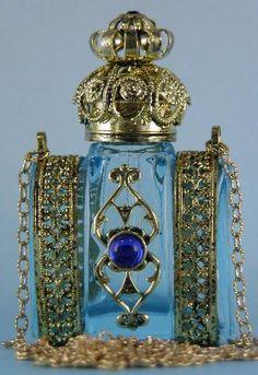 Bohemian Glass Bottle