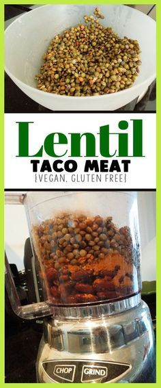 Easy lentil taco meat - great plant based protein dinner recipe, healthy gluten free meal, this links to other good recipes