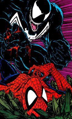 Venom vs Spider-Man (AMAZING SPIDER-MAN #316 June 1989) - Todd McFarlane