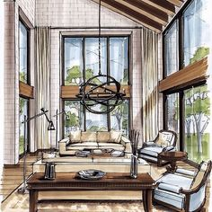 Fantastic interior render by @arielbrindis  #ArchiSketcher by archisketcher