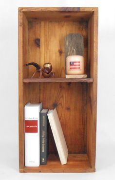 Wood Crate Bookcase, Bookshelf - pinned by pin4etsy.com