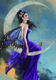 *+*Mystickal Faerie Folke*+* ... Lune d Améthyste ...By Artist Néné Thomas...