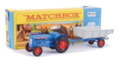 Matchbox Kingsize No.K11 Fordson Super Major Tractor and Farm Tipping Trailer