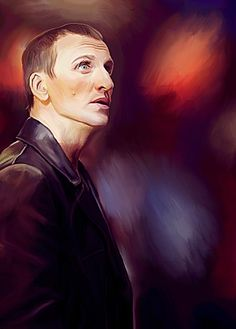 """""""Why I Keep Traveling"""" - Digital Oil Painting I really loved the Ninth Doctor's sense of excitement over history unfolding before him. He could be broody and gruff, but he also had this wild energy. Ninth Doctor, Doctor In, Best Sci Fi Shows, Best Shows Ever, Great Friends, My Best Friend, Doctor Who Fan Art, Christopher Eccleston, Don't Blink"""