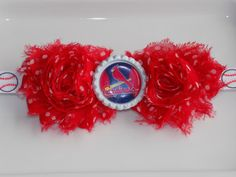 MLB St. Louis Cardinals red with white by momsbowtiqueprincess