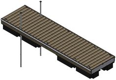 Dock Add Ons: Connect to the end sections to create the desired length of docks for your needs. Connect (via hinge) between ramp and end section. - Iowa Prison Industries