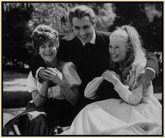Christopher Lee and company on the set of The Horror Of Dracula.