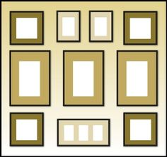 lovethelookforless.ie: Picture display tips and ideas
