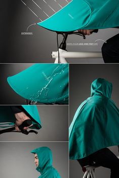 VANMOOF is raising funds for BONCHO, the bike poncho on Kickstarter! BONCHO covers riders' bodies from head to toe when riding in the rain and neatly folds up for easy and compact storage. Urban Bike, Urban Cycling, Bullitt Bike, Pimp Your Bike, Bike Gadgets, Velo Design, Velo Cargo, Cool Bike Accessories, Bike Rider