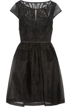 Temperley London Maxime embroidered silk-organza dress | THE OUTNET