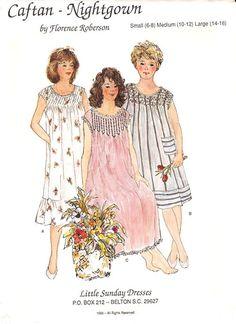 Ladies Caftan-Nightgown - ladies gown, ladies caftan or nightgown, florence roberson patterns, florence roberson nightgown pattern