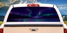 Aurora Rear Window Graphic Back Truck Decal SUV View thru Vinyl Car | eBay