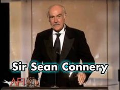 Sir Sean Connery Accepts AFI Life Achievement Award in 2006 - YouTube