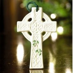 This beautiful St. Kierans Celtic Cross Ornament by Belleek has a traditional high cross design and is a true keepsake . Created in Ireland,...