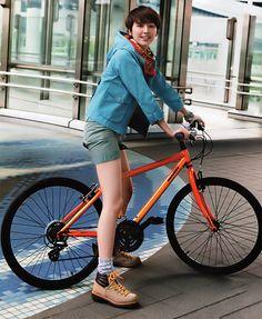 秋天,Go out,Outdoor style Asian Fashion, Girl Fashion, Womens Fashion, Independent Girls, Female Cyclist, Urban Bike, Cycling Girls, Cycle Chic, Bicycle Girl