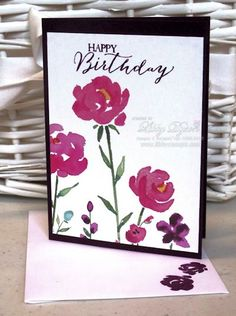 Painted Blooms Cut For Cards