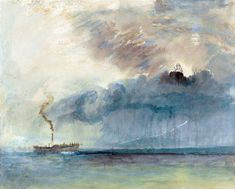 A Paddle steamer in a Storm, c.1841, JMW Turner