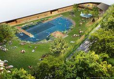 """Herzog & de Meuron Breaks Ground on Public """"Bathing Lake"""" in Riehen"""