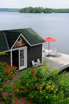 Could be a small cottage, but is actually part of quite a sizable house. Great setting.