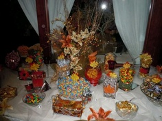 Candy table for my fall wedding.