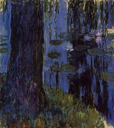art-and-fury:  Weeping Willow and Water-Lily Pond - Claude Monet  (see others)