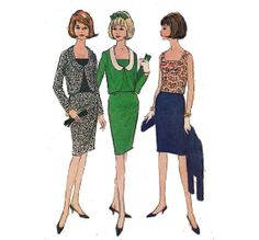 Vintage 60s Sewing Pattern Women's Suit with by HoneymoonBus, $6.99