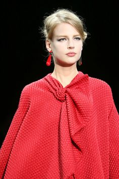 Armani Prive couture-2014/15 red detail
